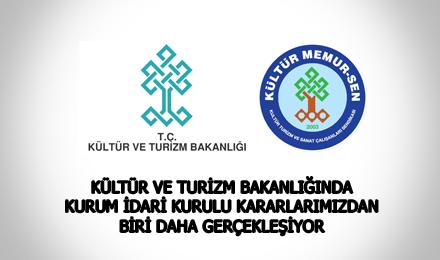Kültür ve Turizm Bakanlığı Görevde Yükselme Sınavı Duyurusu